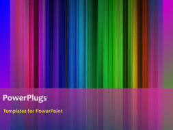 PowerPoint template displaying animated depiction of beautiful color bars with black frame